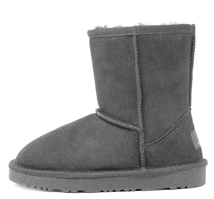 Winter Snow Sheepskin Fur Boots For Kid